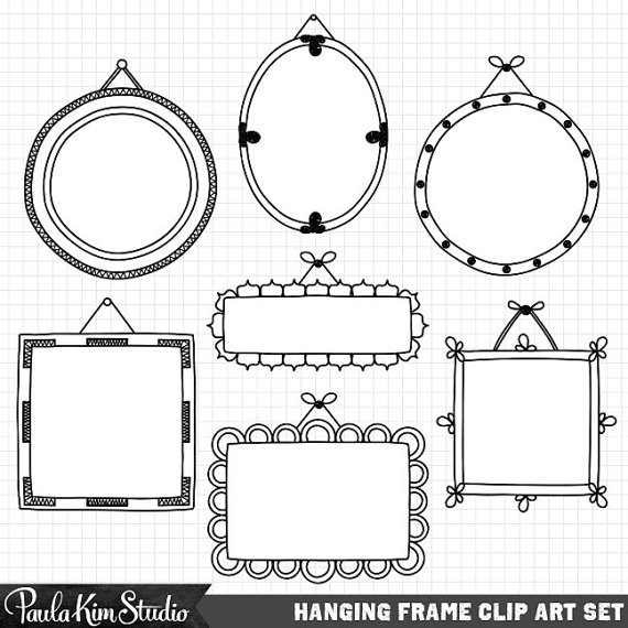 Frame Clipart Hand Drawn Clip Art Frames Commercial Use.