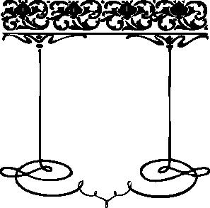 Black Scroll Frame Clip Art.