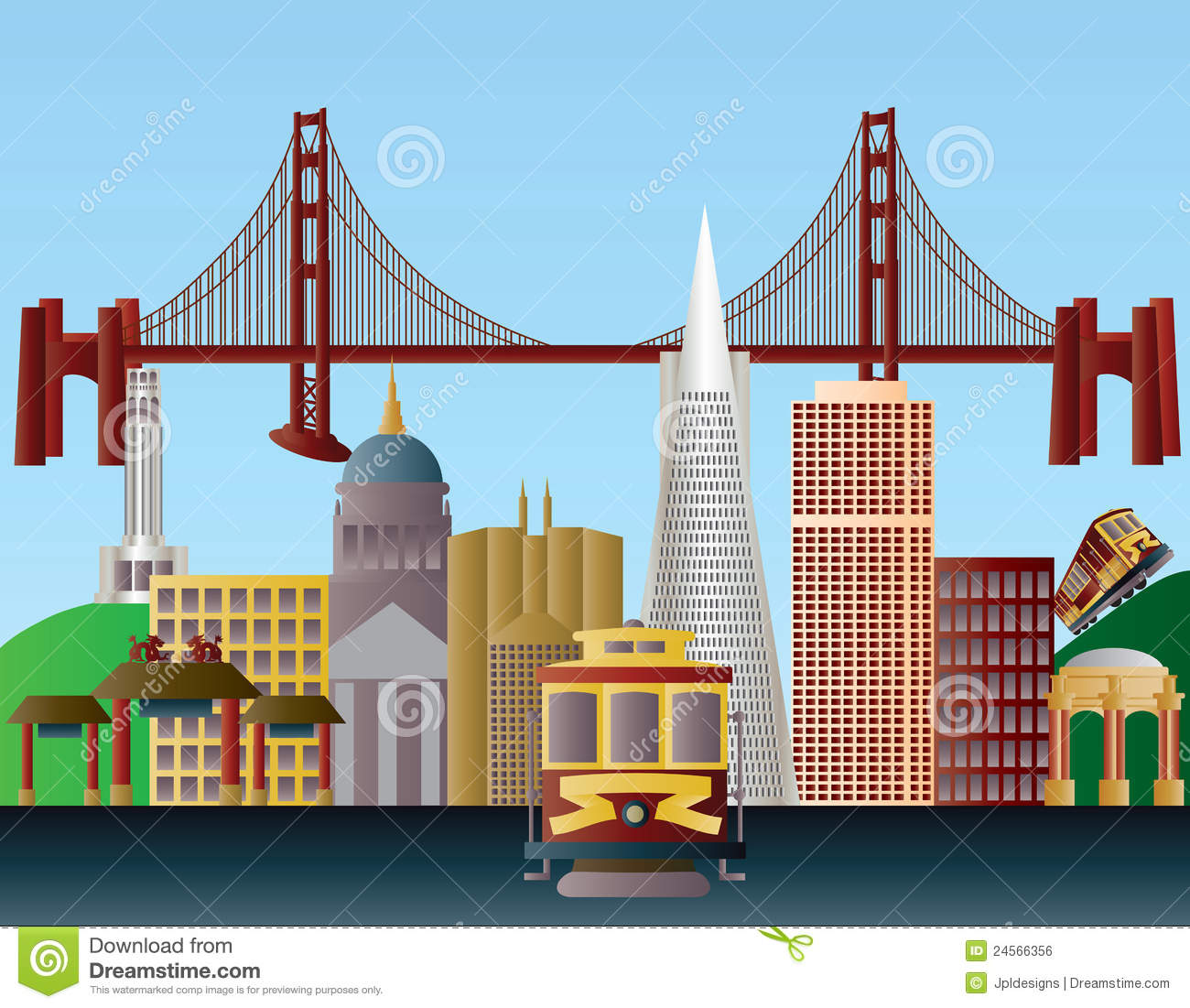 Free clipart map of san fran.