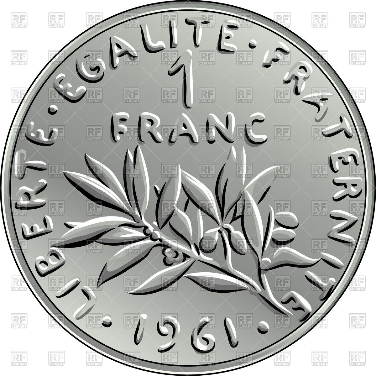 French coin.