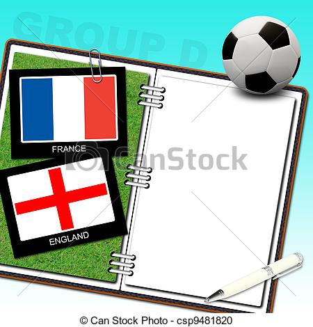 Stock Illustration of Soccer ball euro with flag france and.