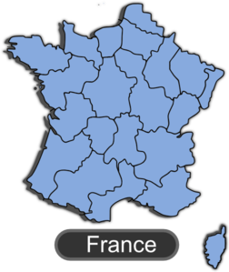 Map Of France With Shadow Clip Art at Clker.com.