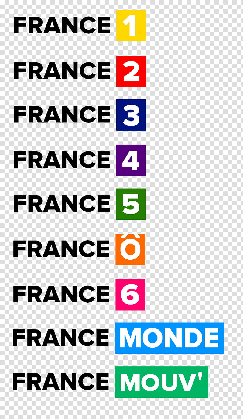 France Televisions channels new logos transparent background.