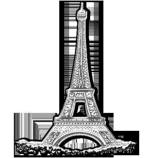 Paris Black And White Clipart.