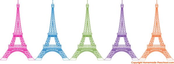 Free Eiffel Tower Clipart.