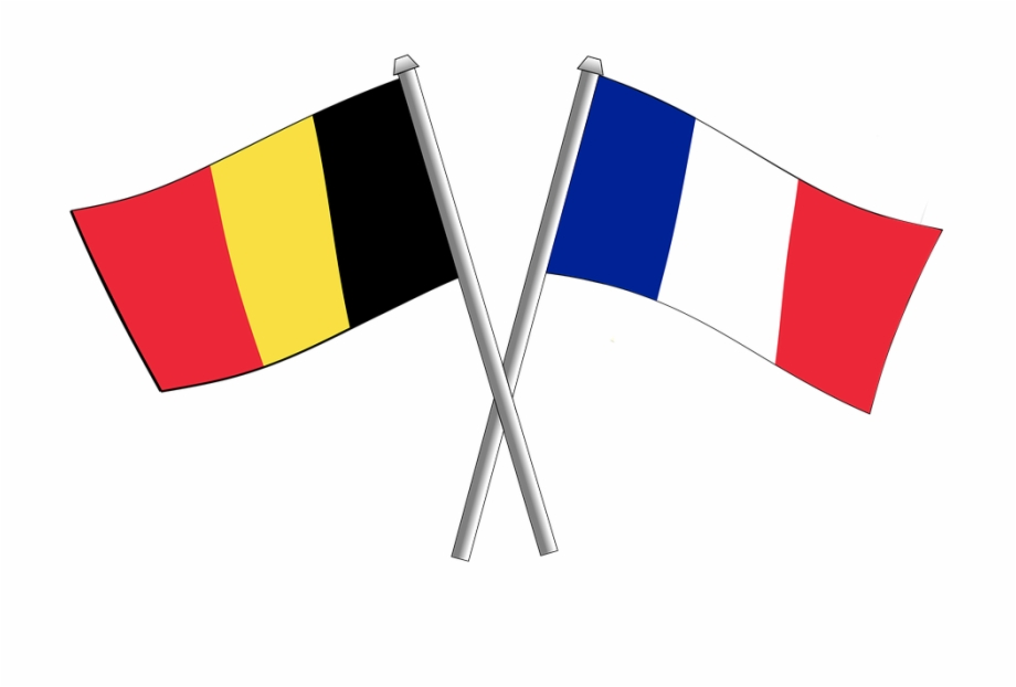 France Friendship Flag Flags Crossbred Belgium.
