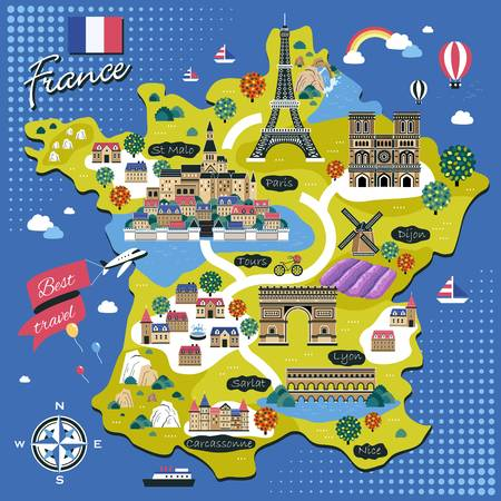 14,499 France Map Cliparts, Stock Vector And Royalty Free France Map.