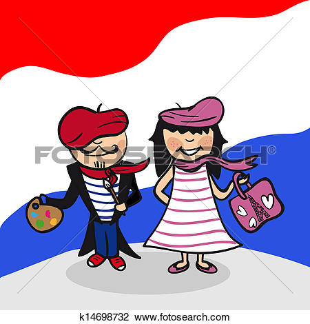 Clipart of Welcome to France people k14698732.