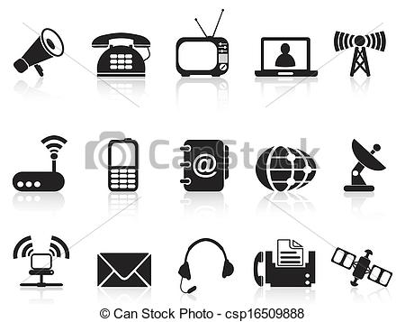 Vector of telecommunication icons.