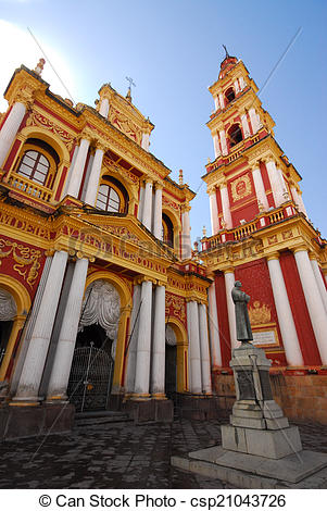 Stock Photo of St. Francis church in Salta, Argentina csp21043726.