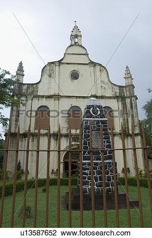 Stock Photo of Facade of a church, St. Francis Church, Cochin.