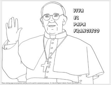 Coloring pages of Pope Francis.