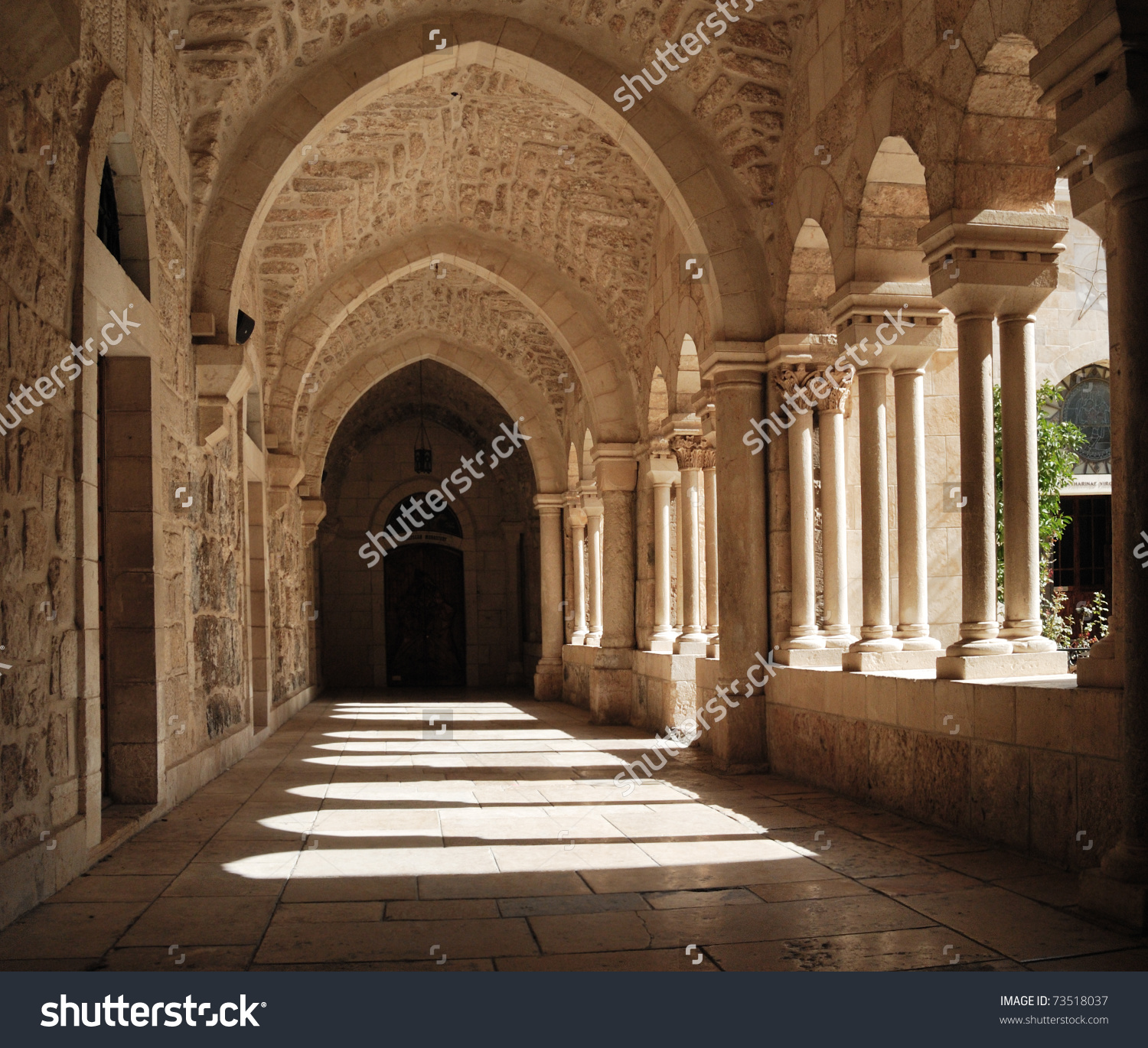 Franciscan Monastery St Jerome Bethlehem Stock Photo 73518037.