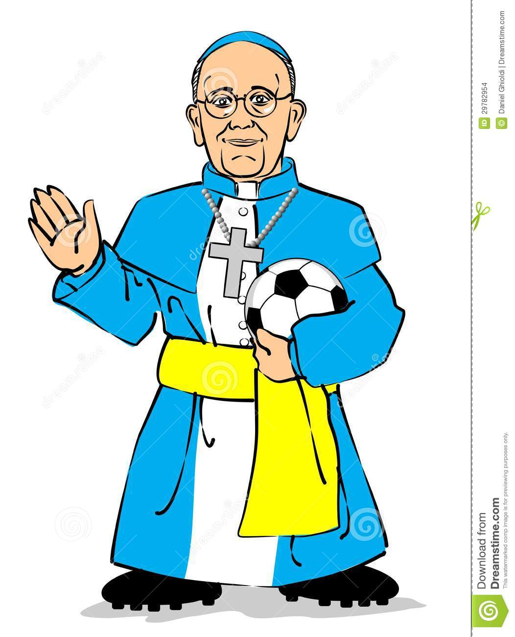 Papa francisco clipart.