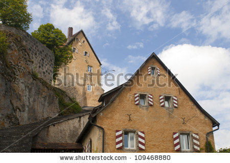 Vector Images, Illustrations and Cliparts: Pottenstein Castle in.