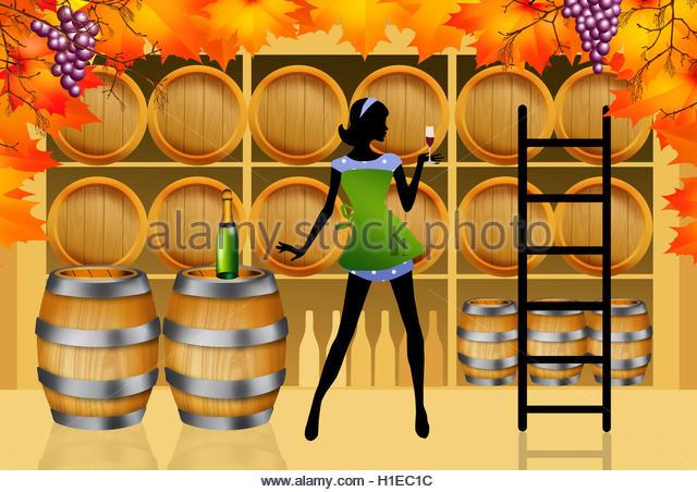 Vintage Woman Wine Bottles Stock Photos & Vintage Woman Wine.