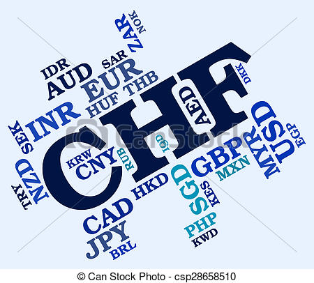 Clipart of Chf Currency Means Swiss Francs And Currencies.