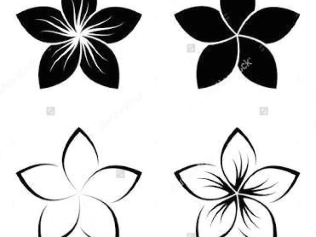 Collection of Frangipani clipart.