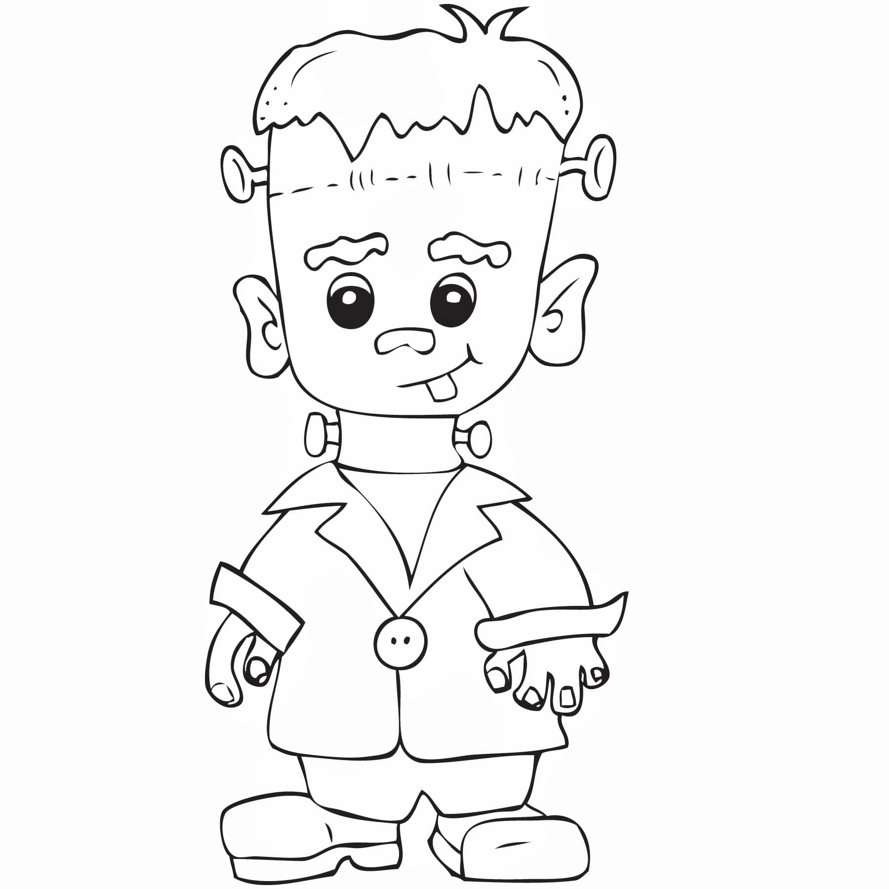 Frankenstein clipart black and white 5 » Clipart Station.