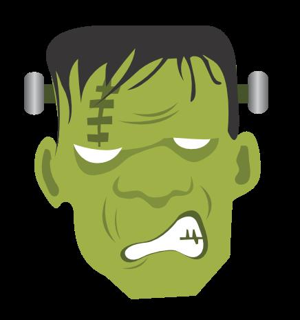Frankenstein Head Clipart.