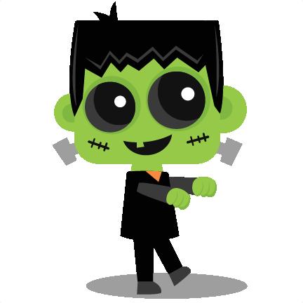 Cute Frankenstein Clipart.