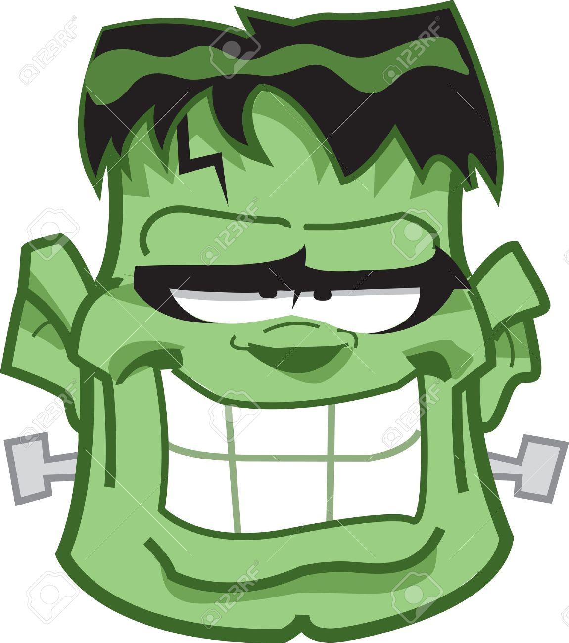 Classic Frankenstein Monster Cartoon Head.