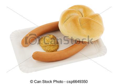 Stock Photography of Vienna sausage.