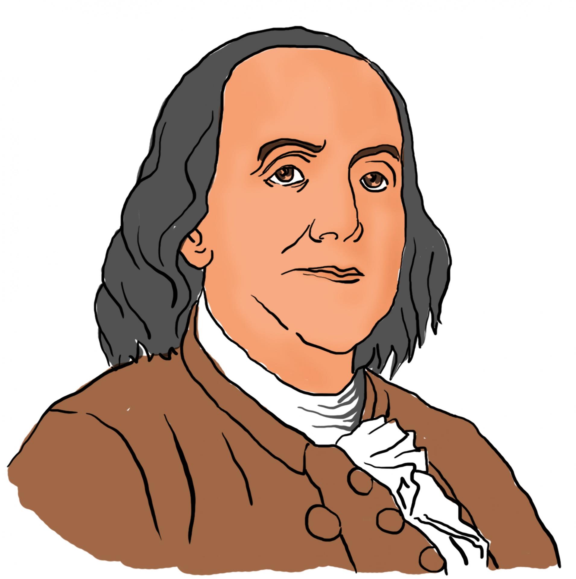 Benjamin Franklin Clipart Free Stock Photo.
