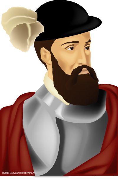 Pizarro Conquistador Clip Art.