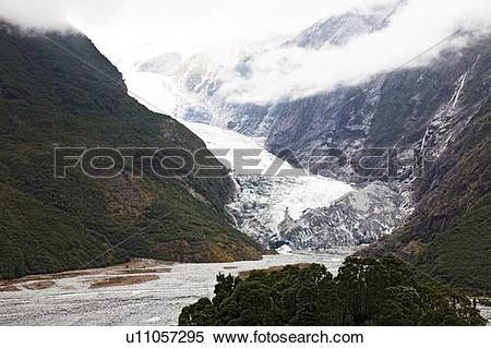 Stock Image of Franz Josef glacier, New Zealand u11057295.