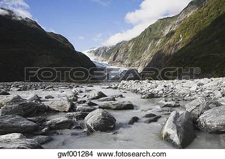 Stock Photo of New Zealand, South Island, View of westland.