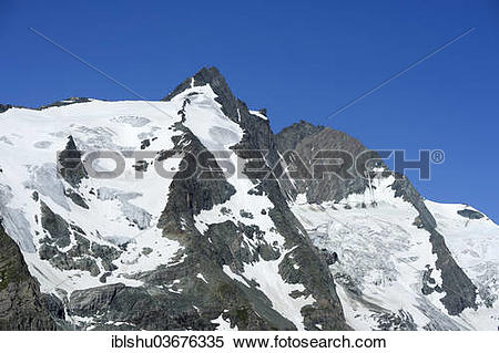 "Stock Image of ""Mt Kleinglockner and Mt Grossglockner, Kaiser."