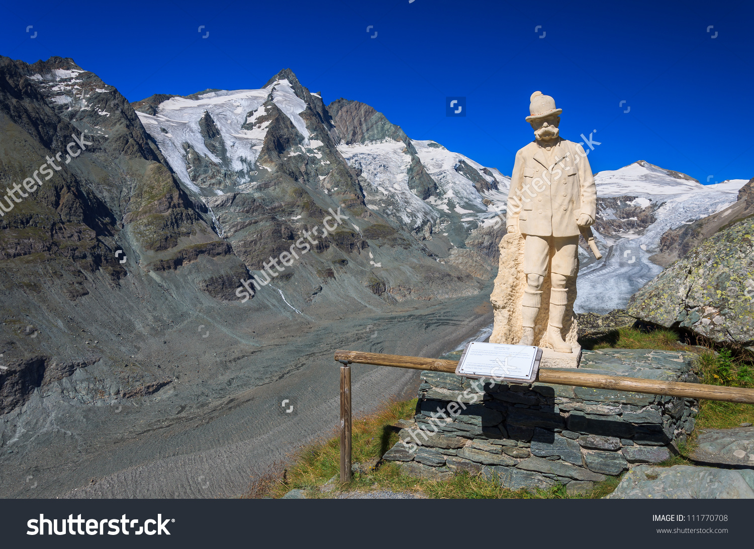 View Of Grossglockner Mountain And Franz Josef Statue In The.