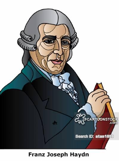 Franz Joseph Haydn Cartoons and Comics.