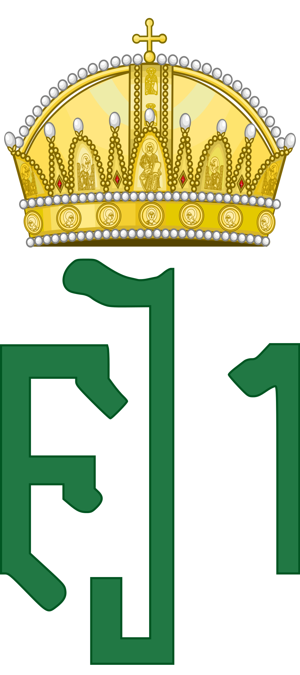 File:Royal Monogram of Emperor Franz Joseph I as King of Hungary.