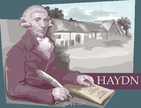 Franz Joseph Haydn Royalty Free Vector Clip Art illustration.