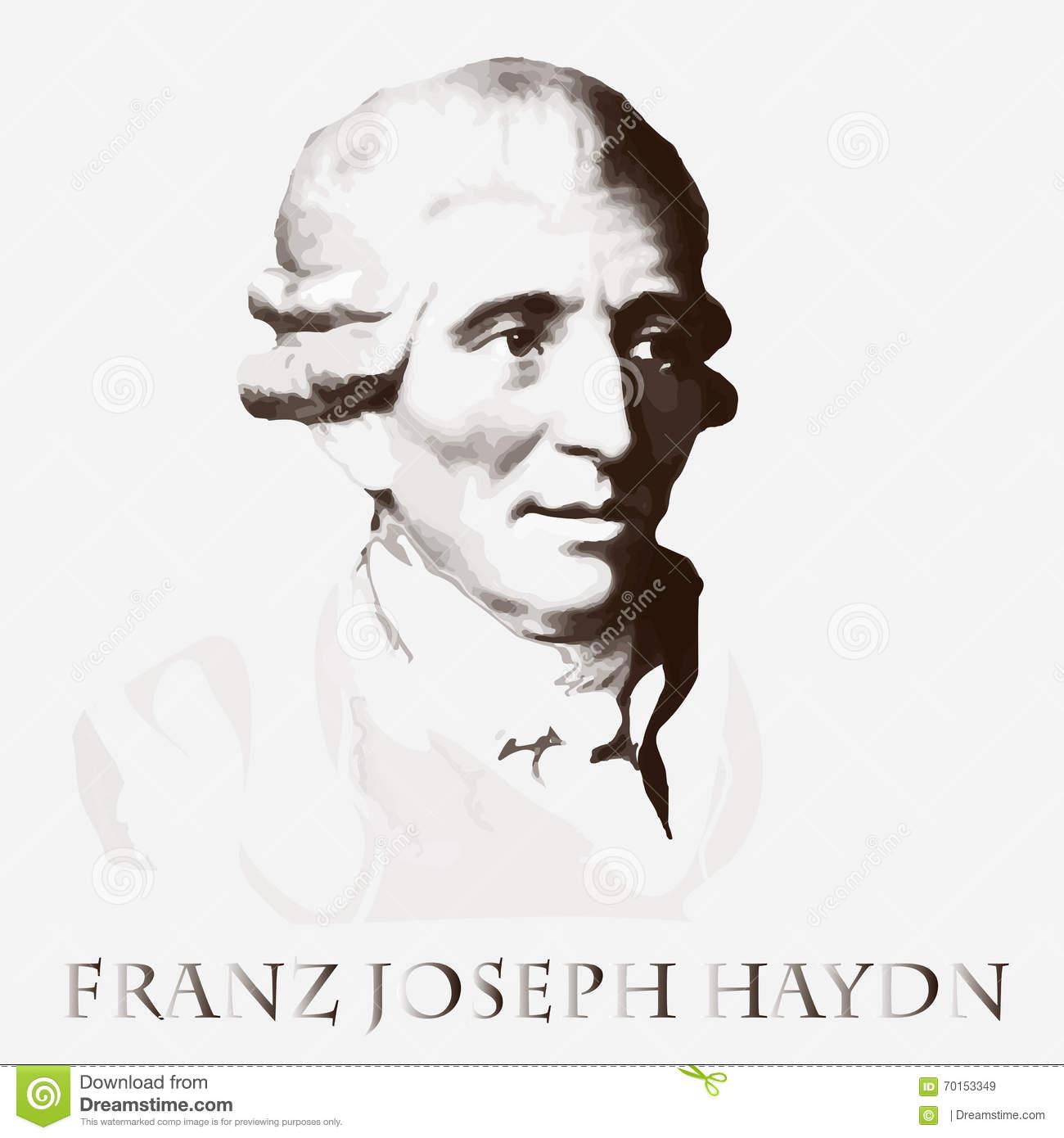 Composer Franz Joseph Haydn. Vector Portrait Stock Vector.
