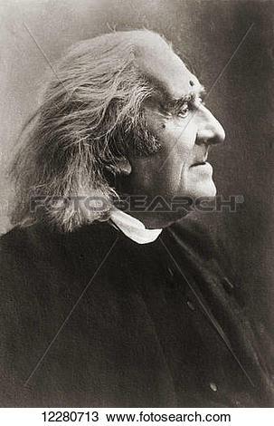 Stock Photo of Franz Liszt , aka Franz Ritter von Liszt, 1811.