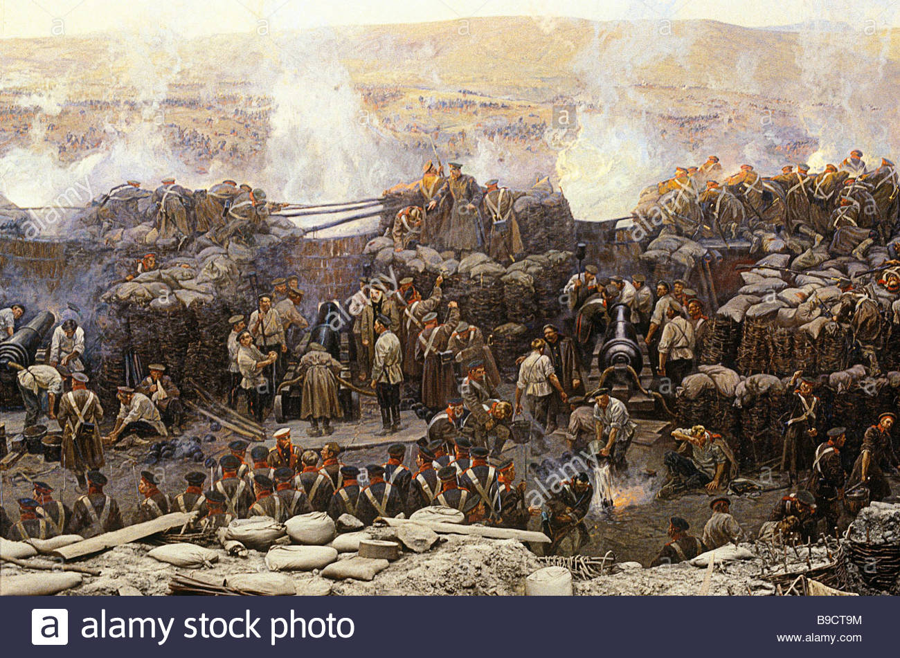 Franz Roubaud Or Rubo 1856 1928 The Defense Of Sevastopol In 1854.