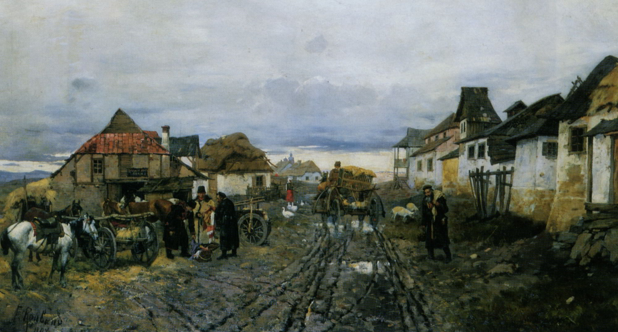 Village Traders by Franz Roubaud.