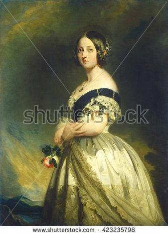 Queen Victoria Portrait Stock Photos, Royalty.