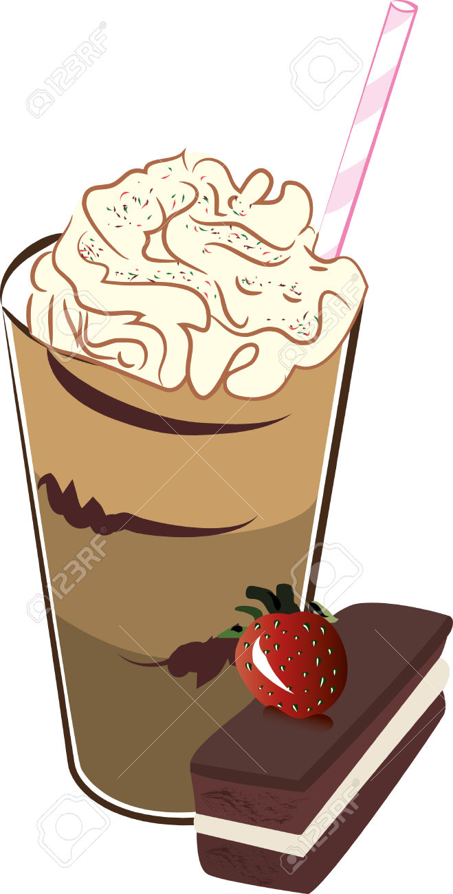 Frappe And Cake Royalty Free Cliparts, Vectors, And Stock.