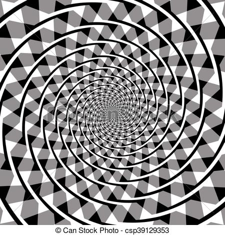 Clipart Vector of Fraser spiral optical illusion. Also known as.