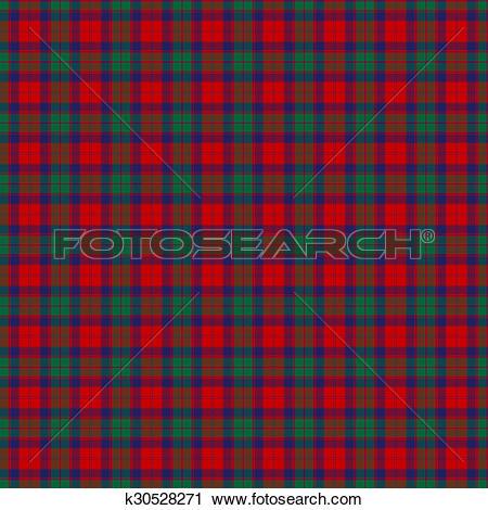 Clipart of Clan Fraser of Altyre Tartan k30528271.