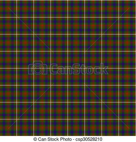 Clipart of Clan Fraser Hunting Tartan.
