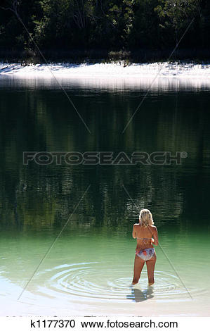 Stock Photography of Tropical Beach Model, Lake Birrabeen.