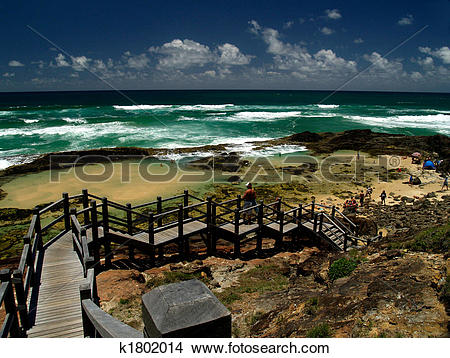 Stock Photo of Champagne Pools Fraser Island k1802014.