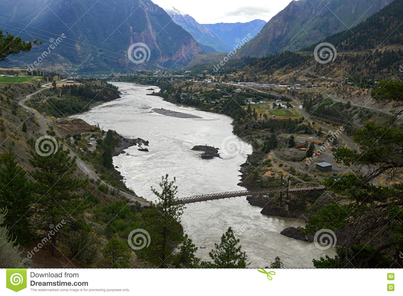 Lillooet And Fraser River, British Columbia, Canada 2 Stock Photo.