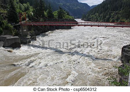 Stock Photo of walking bridge over fraser river.