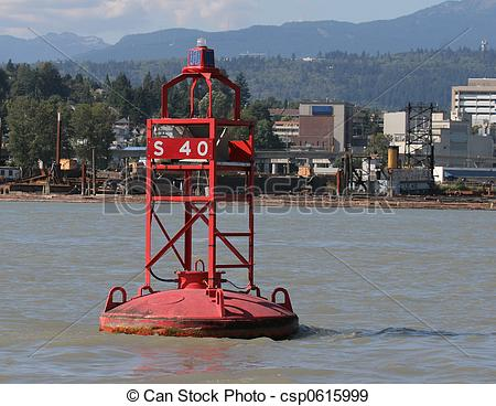 Stock Photographs of River Buoy.